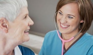 CARNA image of nurse with patient