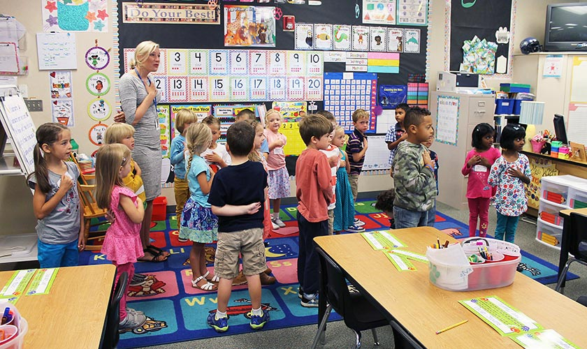 Kids in classroom at Snoqualmie valley shcool