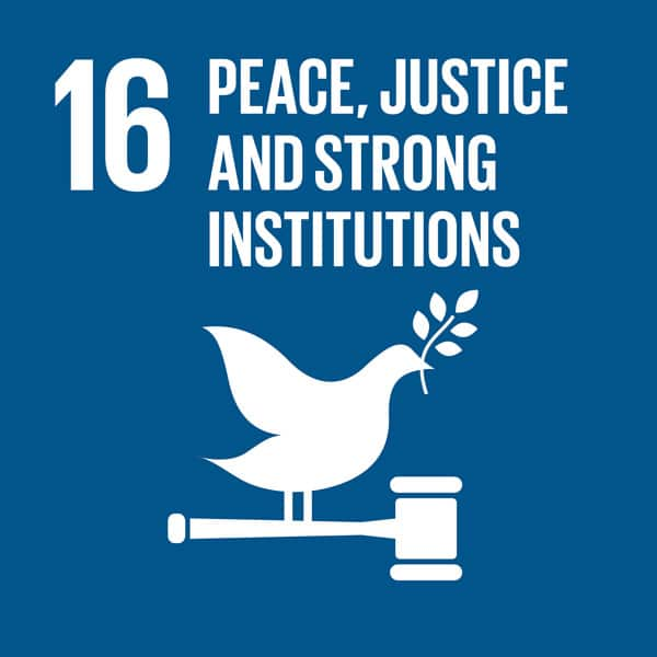 SDG Goal 16 - Peace, Justice and Strong Institutions